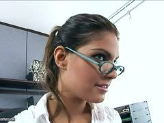 Rothaarige Brillenschlange beim poppen